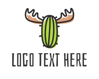Food Truck - Cactus Moose logo design