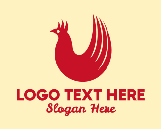 Feather - Red Rooster logo design