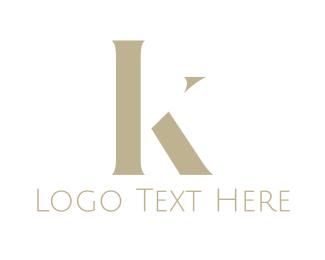 Font - Golden Letter K logo design
