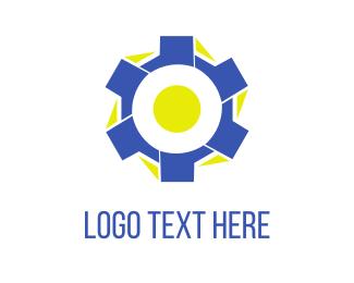 Cog - Blue Tire logo design