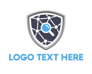 Database - Search Shield logo design