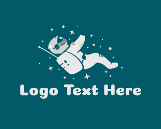 Astronaut - Constellation Astronaut logo design