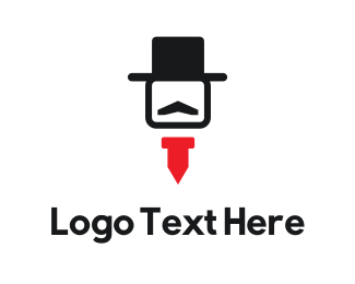 Gentleman - Hat & Tie logo design