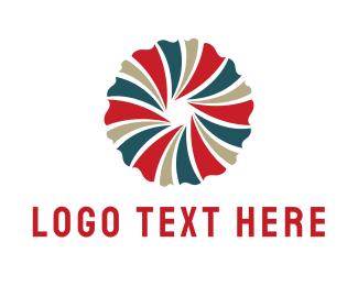 Wreath - Spiral Flower logo design