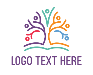 Community Center - Kindergarten Tree logo design