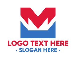 Industry - Red Blue M logo design