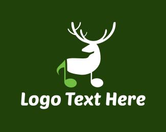 Christmas - Musical Deer logo design