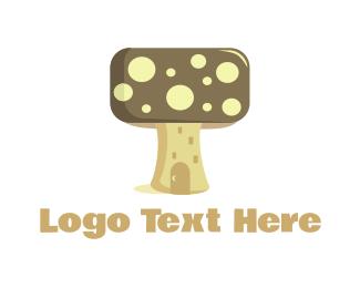 Fairy Tale - Mushroom House logo design