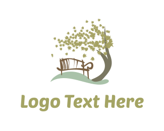 Winter - Park Bench logo design