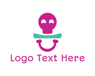 Skull - Bone Pacifier logo design