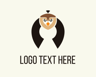 Owl - Flying Owl logo design