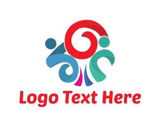 People - Ribbon People logo design