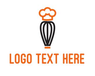 Chef - Whisk Chef logo design