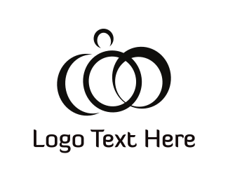 Wedding - Abstract Rings logo design