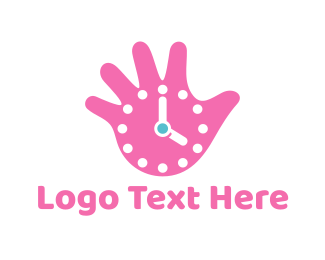 Childcare - Hand Watch logo design