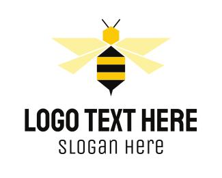 Healthcare - Flying Bee Hexagon logo design