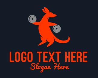 Gymnasium - Strong Kangaroo logo design