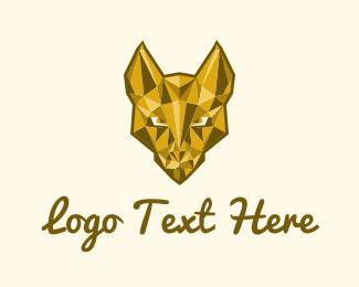 Dollar - Gold Dog Mascot logo design