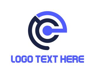 Wireless - E Radar logo design