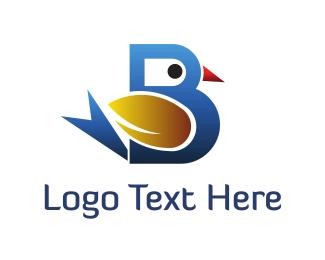 Tail - Bird Letter B logo design