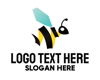 Wasp - Abstract Bee logo design