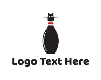 Gaming - Bowling Cat logo design