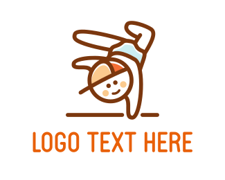 Gymnastics - Little Boy logo design