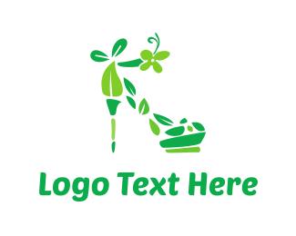 Heel - Eco Shoe logo design