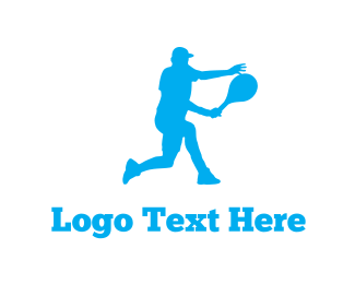 Athlete - Blue Tennis logo design