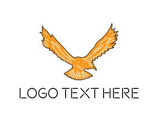 Crest - Orange Falcon logo design
