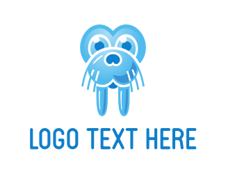 Whiskers - Blue Walrus logo design