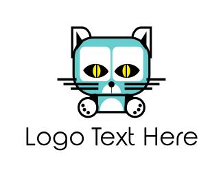 Feline - Blue Feline logo design
