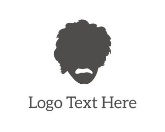 Head - Einstein Silhouette logo design