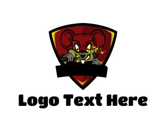 Crazy - Mad Mouse logo design