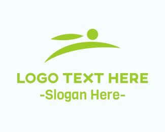 Hare - Minimalist Green Rabbit logo design