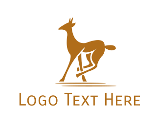Savanna - Brown Wild Gazelle logo design