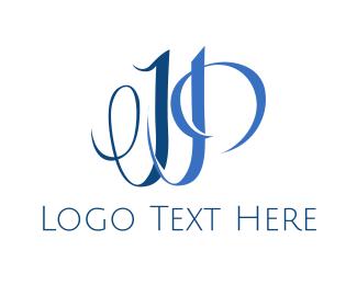 Drapery - Elegant J & P logo design