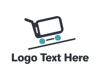 Shopping Cart - Phone Cart logo design
