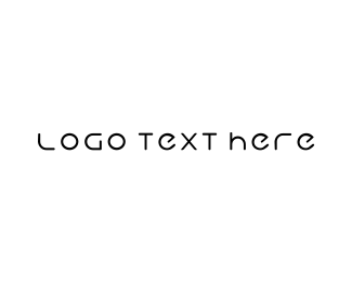 Text - Clean & Minimal logo design