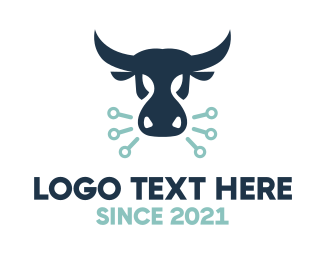 Technical - Angry Bull logo design