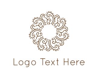 Boutique - Floral Circle logo design
