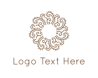 Cosmetics - Floral Circle logo design