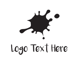 Printing - Black Ink  logo design