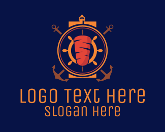Lighthouse - Nautical Kebab logo design