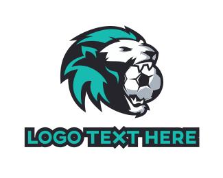Football - Soccer Lion  logo design