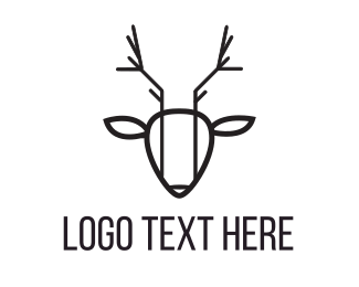 Logotype - Abstract Deer logo design