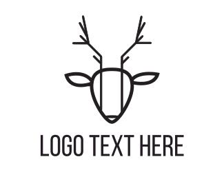 Line - Abstract Deer logo design