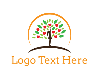Farm - Apple Tree logo design
