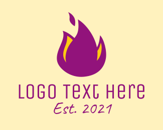 Campfire - Purple Flame logo design