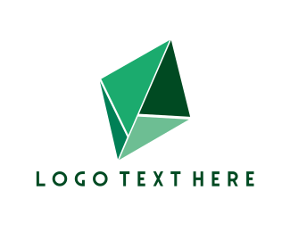 Turquoise - Green Diamond logo design